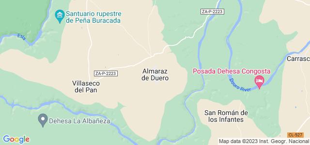 Mapa de Almaraz de Duero