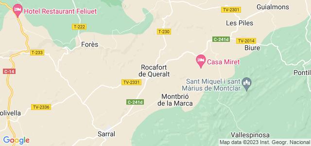 Mapa de Rocafort de Queralt
