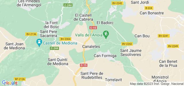 Mapa de Cabrera dAnoia