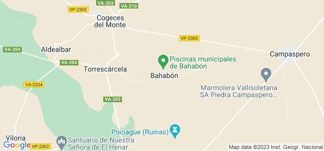 Mapa de Bahabón