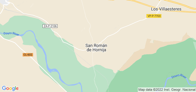 Mapa de San Román de Hornija