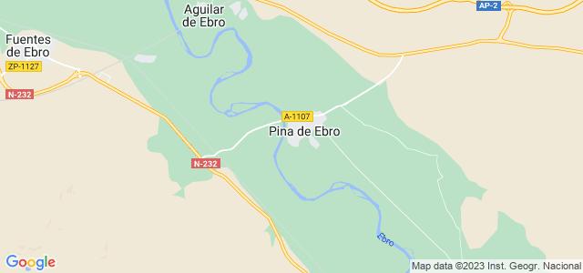 Mapa de Pina de Ebro
