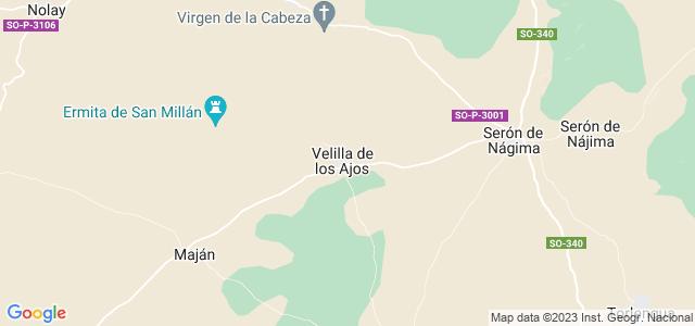 Mapa de Velilla de los Ajos