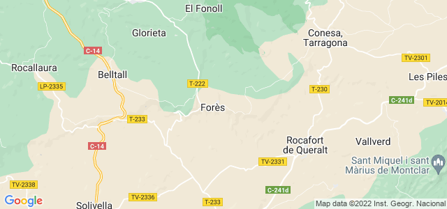 Mapa de Forès