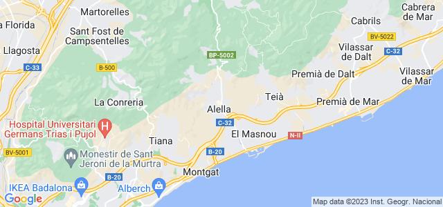 Mapa de Alella