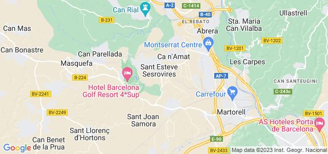 Mapa de Sant Esteve Sesrovires