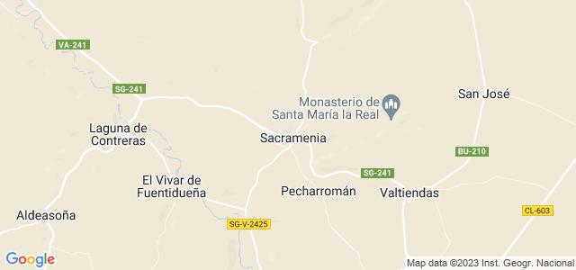 Mapa de Sacramenia
