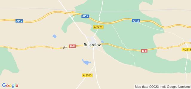 Mapa de Bujaraloz