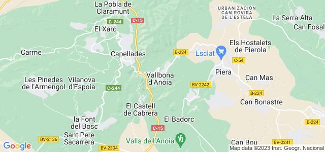 Mapa de Vallbona dAnoia