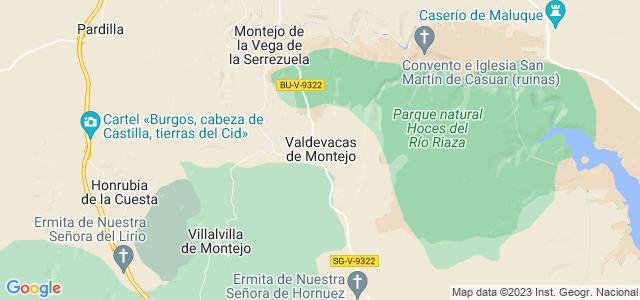 Mapa de Valdevacas de Montejo
