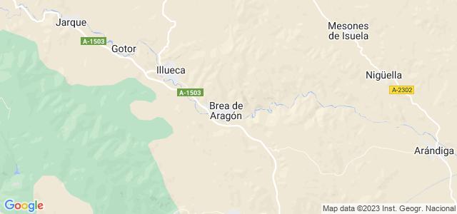 Mapa de Brea de Aragón