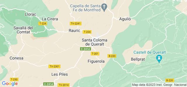 Mapa de Santa Coloma de Queralt