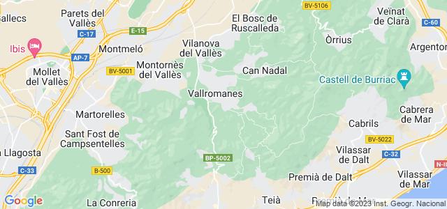 Mapa de Vallromanes