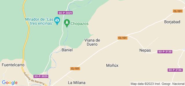 Mapa de Viana de Duero