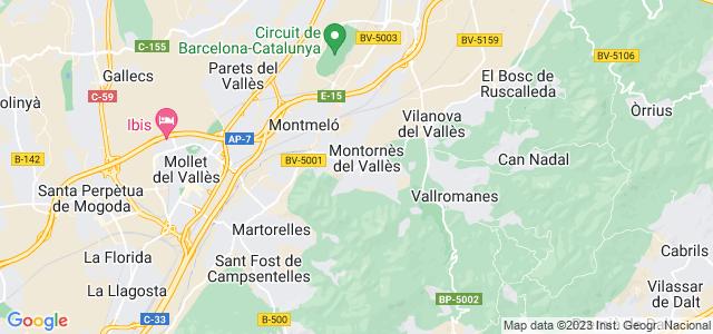 Mapa de Montornès del Vallès