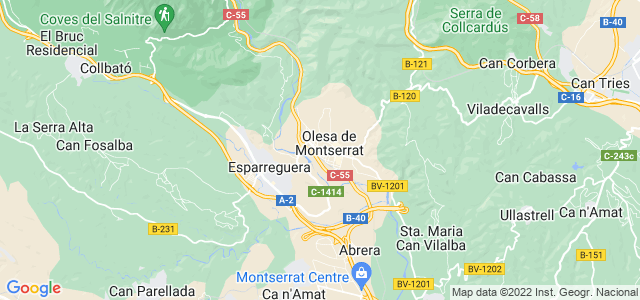 Mapa de Olesa de Montserrat