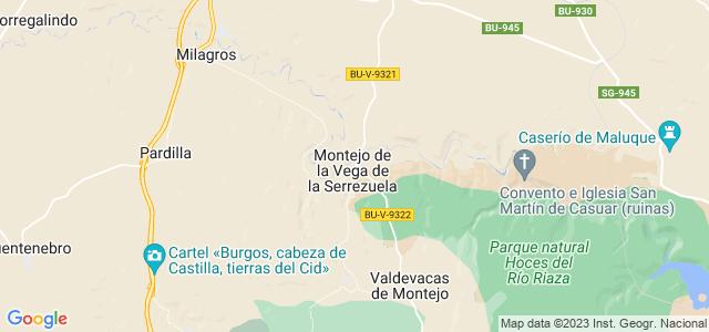 Mapa de Montejo de la Vega de la Serrezuela