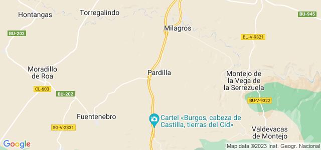 Mapa de Pardilla