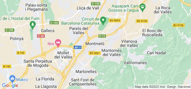 Mapa de Montmeló