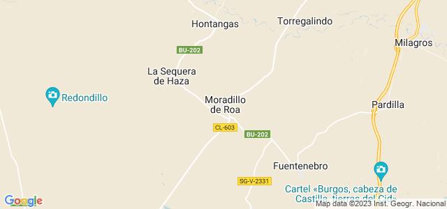 Mapa de Moradillo de Roa