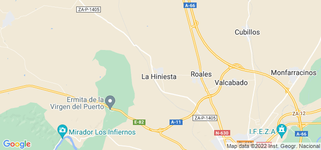 Mapa de Hiniesta