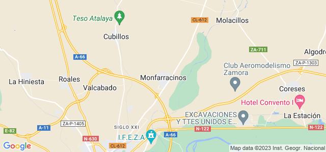 Mapa de Monfarracinos