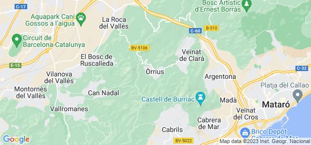 Mapa de Òrrius
