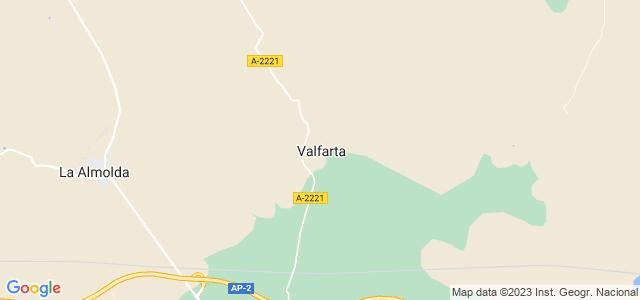Mapa de Valfarta