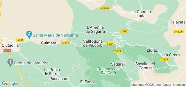 Mapa de Vallfogona de Riucorb