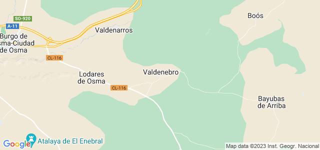 Mapa de Valdenebro