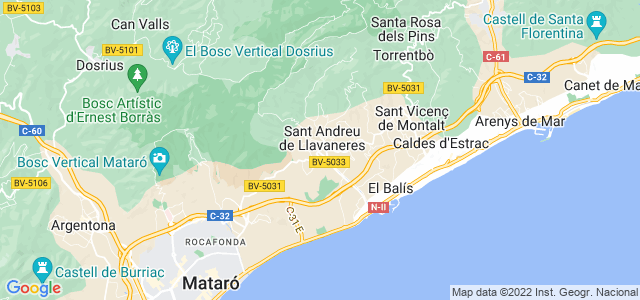 Mapa de Sant Andreu de Llavaneres