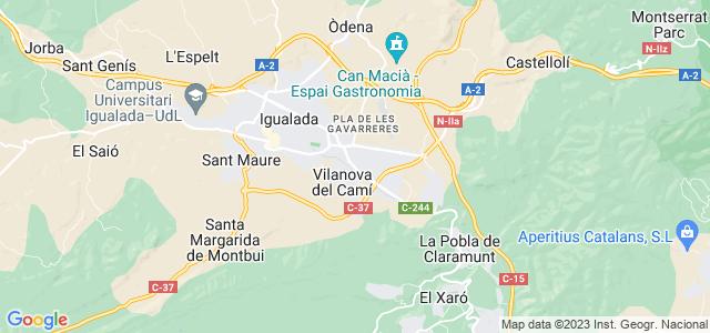Mapa de Vilanova del Camí