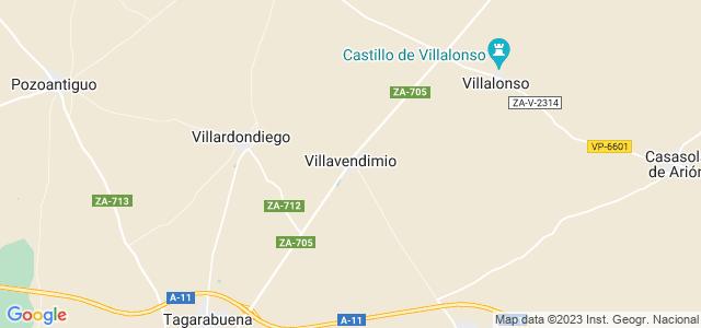 Mapa de Villavendimio