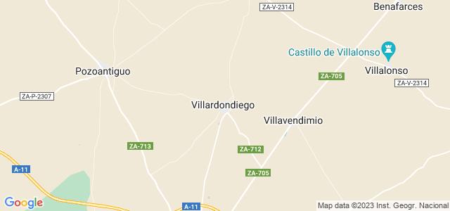 Mapa de Villardondiego
