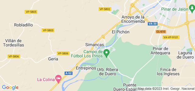 Mapa de Simancas