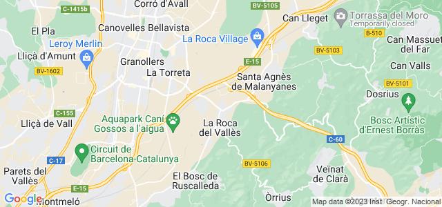 Mapa de Roca del Vallès