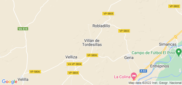 Mapa de Villán de Tordesillas