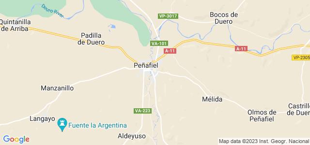 Mapa de Peñafiel