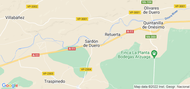 Mapa de Sardón de Duero