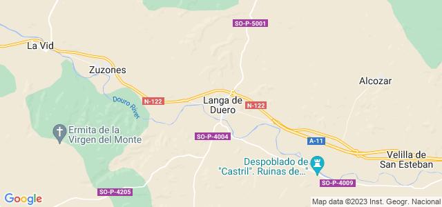 Mapa de Langa de Duero