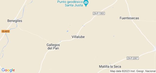 Mapa de Villalube