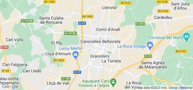 Mapa de Canovelles