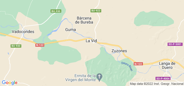 Mapa de Vid y Barrios