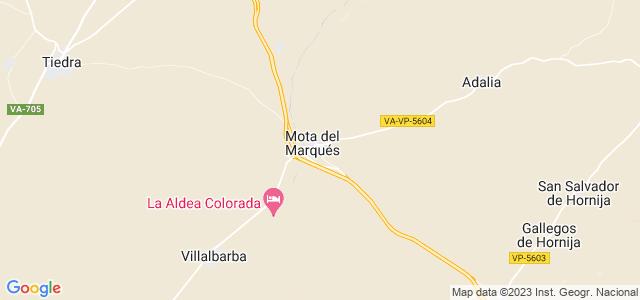 Mapa de Mota del Marqués