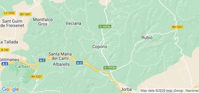 Mapa de Copons
