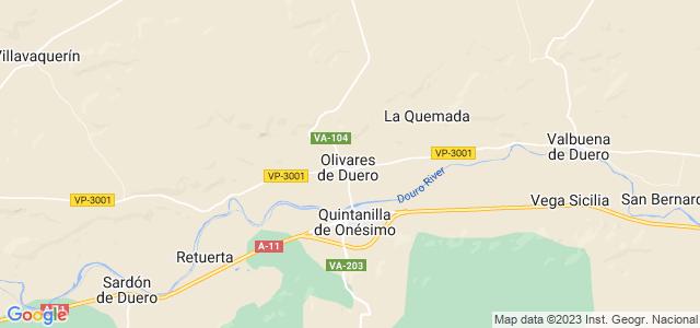Mapa de Olivares de Duero