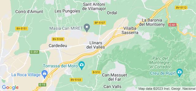 Mapa de Llinars del Vallès