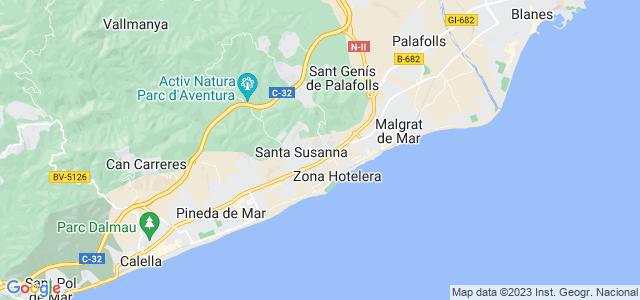 Mapa de Santa Susanna