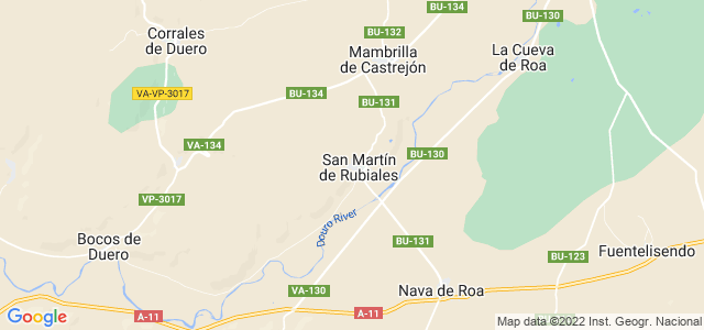 Mapa de San Martín de Rubiales