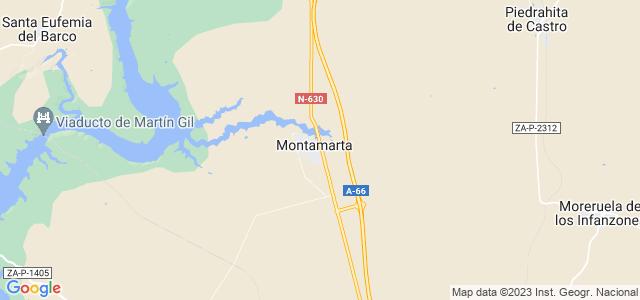Mapa de Montamarta